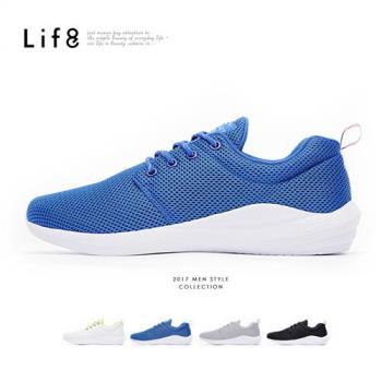 Life8-Sport 輕量 簡約風格 飛艇運動鞋(附雙鞋帶) -09818
