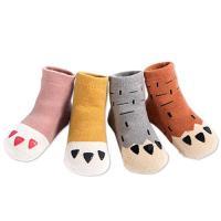 【3雙入】寶寶嬰兒襪純棉腳爪毛圈襪 防滑地板襪
