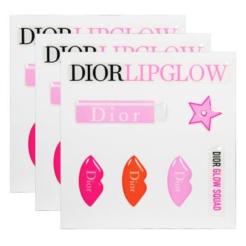 Dior 迪奧 LIPGLOW超癮誘粉漾護唇膏 潤唇膏立體貼紙*3