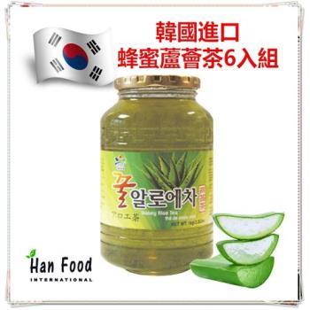 新鮮味 韓國 蜂蜜蘆薈茶1公斤*6入