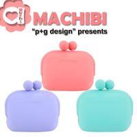 p+g design MACHIBI fuwari 立體粉彩矽膠珠扣零錢包/收納包-紫粉綠3色可選