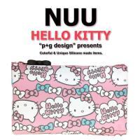 日本空運進口 p+g design NUU X HELLO KITTY 2016 繽紛矽膠拉鍊零錢包 - 粉色蝴蝶結款