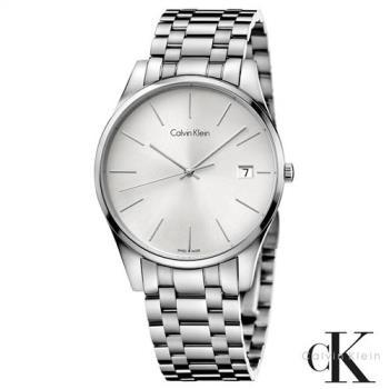 CalvinKlein  卓越菁英藍寶石玻璃石英腕錶  K4N21146