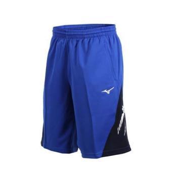 MIZUNO 男針織短褲-五分褲 運動短褲 訓練 慢跑 路跑 美津濃 藍白