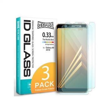 Rearth 三星 Galaxy A8 2018 強化玻璃保護貼(三片裝)
