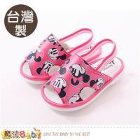 魔法Baby 寶寶鞋 台灣製迪士尼米妮正版幼兒嗶嗶鞋~sk0315