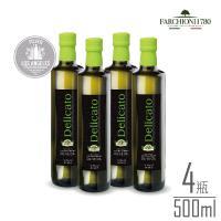 義大利 法奇歐尼 綠色莊園特級冷壓初榨橄欖油 500ml綠圓瓶  x4瓶組