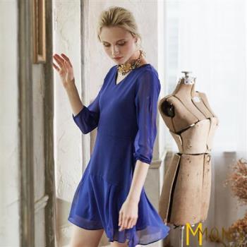 MONS 設計師款造型v領洋裝
