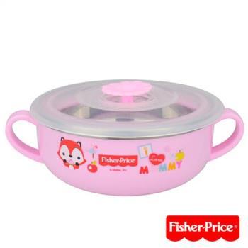 費雪Fisher-Price-雙耳不銹鋼兒童餐具碗-350ml-粉/綠/藍三色可選
