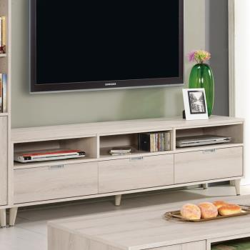 Bernice-艾奇6尺簡約三抽電視櫃/長櫃