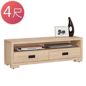 Bernice-布羅4尺簡約二抽電視櫃/長櫃