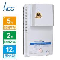 HCG和成屋外防風型熱水器12公升GH1233(NG1/FE式)/(LPG/FE式)