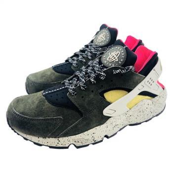 NIKE Air Huarache Run PRM 男 武士鞋 慢跑鞋 休閒鞋-綠 704830010