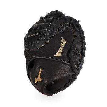 MIZUNO 少年用捕手手套-壘球 棒球  美津濃 黑金