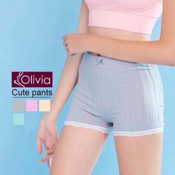 【Olivia】可愛蕾絲滾邊四角內褲/安全褲
