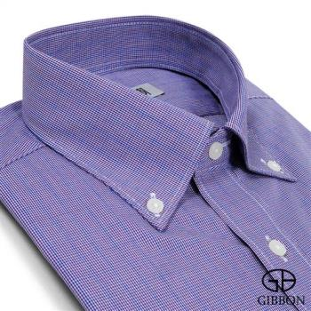 GIBBON 精紡舒適長袖襯衫‧深紫
