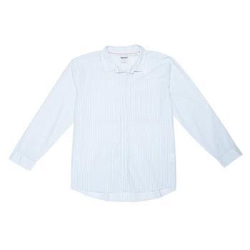 Timberland女款粉藍色長袖Boyfriend襯衫A1M78I64