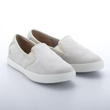 Timberland女款白色DAUSETTE絨面皮革便鞋A1ICQF48