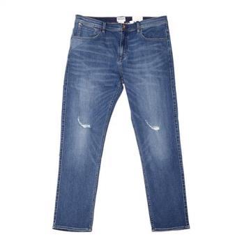 Timberland男款藍色破壞單寧牛仔長褲A1M43L30