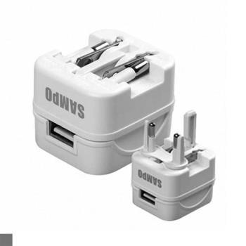 SAMPO 聲寶 USB充電器轉接頭 2.1A EP-UC0BU2(W)