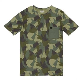 Timberland男款鴨綠色短袖KennebecRiver迷彩印花T恤A1M1UL11