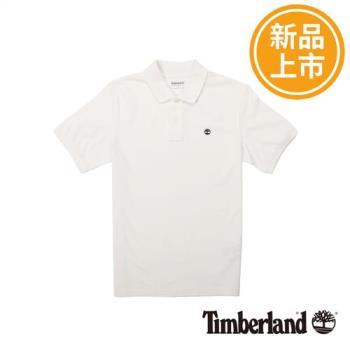 Timberland男款米白色MILLERSRIVER彈性大樹LOGOPOLO衫A1SIB130