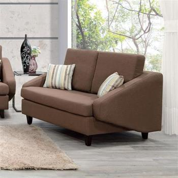 【H&D】愛潔卡二人座咖啡色布沙發