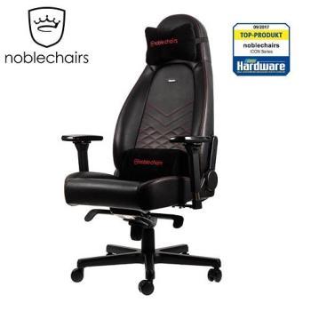 noblechairs 皇家ICON系列 電腦椅/辦公椅/電競超跑椅-PU尊爵款-黑/紅