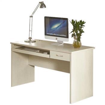 【AT HOME】喬治4尺白木紋電腦書桌(120*60*75cm)