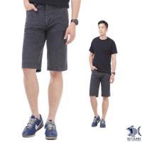 【特價款 即將斷貨】冷灰鋼鐵男子 格紋復刻泡泡布 休閒短褲(中腰) NST Jeans 390(9427)