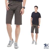 【NST Jeans】古著 咖啡黑直紋 復刻泡泡布 休閒短褲(中腰) 390(9425)
