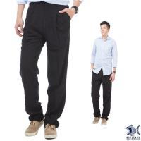 【NST Jeans】夏日涼感黑 冰涼節能 打摺休閒褲(中高腰寬版) 002(8707)