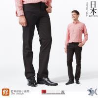 【NST Jeans】日本布料_經典Black暗條紋 休閒長褲(中低腰窄版) 380(5616)