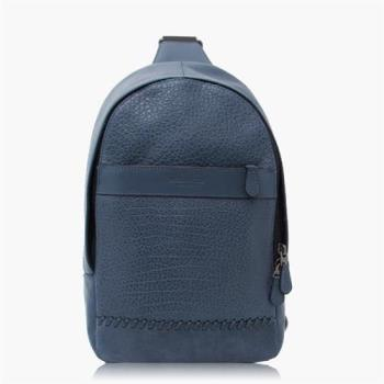 COACH 旅行必備 卵石皮革 / 背包 / 後背包 藍色