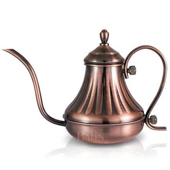 NO.10 達人咖啡 古銅不鏽鋼手沖細口宮廷壺420ml