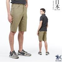 【NST Jeans】日本布料_人字織紋淺卡其短褲(中腰鬆緊修身版) 390(9435)