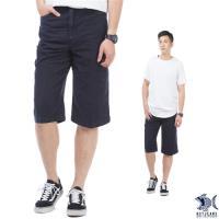 【NST Jeans】美式搖滾大玩家 冰涼節能 七分工作褲(中高腰 鬆緊帶 寬版) 002(9443)