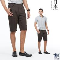 【NST Jeans】日本布料_日式昭和咖啡色短褲(中腰鬆緊修身版) 390(9433)