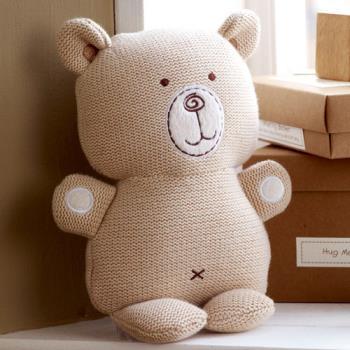 英國「Natures Purest」天然純綿- 針織抱抱熊