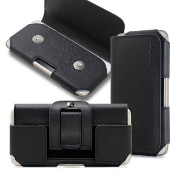 CityBoss 舒適頂級 For iPhoneX/ iPhone 8 Plus/7 Plus 真皮腰掛皮套
