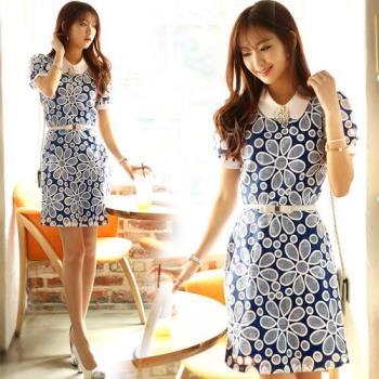 韓國K.W.  微甜氣息雕花洋裝