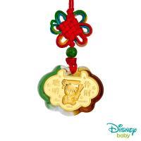 Disney迪士尼系列金飾 黃金/琉璃鎖片-聰明伶俐米奇款
