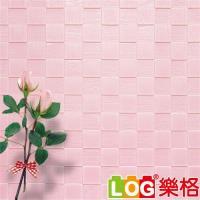 LOG樂格 3D立體 馬賽克防撞美飾牆貼 -粉紅馬賽克 X5入(防撞壁貼/防撞墊)