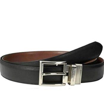 Tommy Hilfiger 2018男時尚正式黑棕雙面使用皮帶(預購)