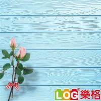 LOG 樂格 3D立體深凹木皮紋 防撞美飾牆貼 -水藍色 X5入(防撞壁貼/防撞墊)