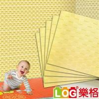 LLOG樂格 3D立體馬賽克 兒童防撞牆貼 -鵝黃馬賽克 X5入(防撞壁貼/防撞墊)