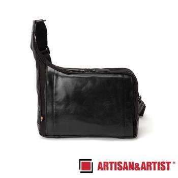 ARTISAN ARTIST 皮革斜肩相機包 RR4-05C(黑)