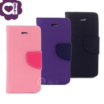 Apple iPhone X/Xs 經典雙色馬卡龍手機皮套 側掀支架式皮套 矽膠軟殼 抗震防摔 粉紫黑多色可選