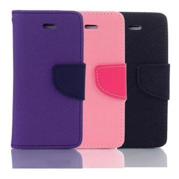 Apple iPhone 7 Plus/iPhone 8 Plus共用 5.5吋馬卡龍雙色手機皮套 撞色側掀支架式皮套 矽膠軟殼 紫粉黑多色可選