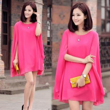 韓國KW 現貨時尚貴婦款披風斗篷洋裝